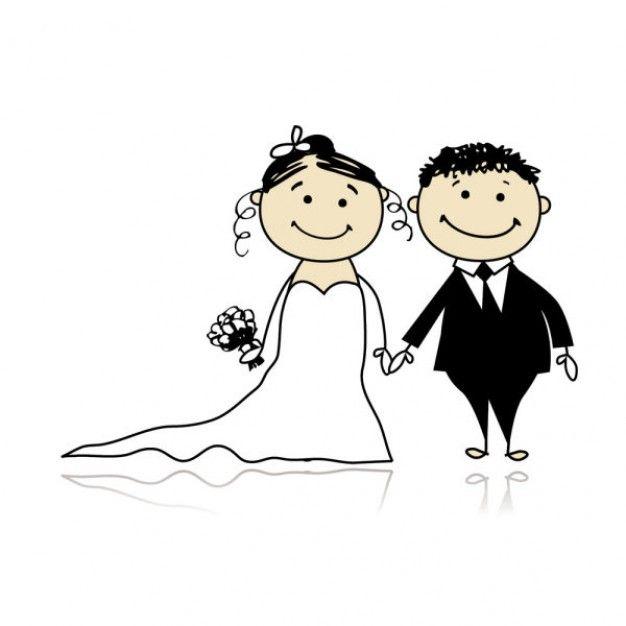 Wedding Altar Cartoon: Svatební Dar Výšivka Na Textil