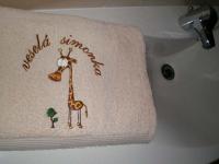 pošitý ručník, výšivka na ručníku 14