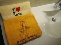 pošitý ručník, výšivka na ručníku vysivka_rucnik8