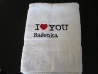 pošitý ručník, výšivka na ručníku vysivka_rucnik_i-love-you