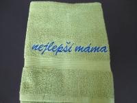 pošitý ručník, výšivka na ručníku vysivka_rucnik_mama
