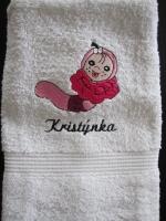pošitý ručník, výšivka na ručníku vysivka_rucnik_motiv-detsky