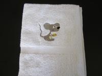 pošitý ručník, výšivka na ručníku vysivka_rucnik_myska