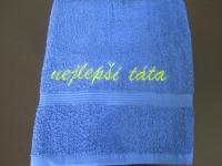 pošitý ručník, výšivka na ručníku vysivka_rucnik_tata