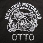motorkář výšivka